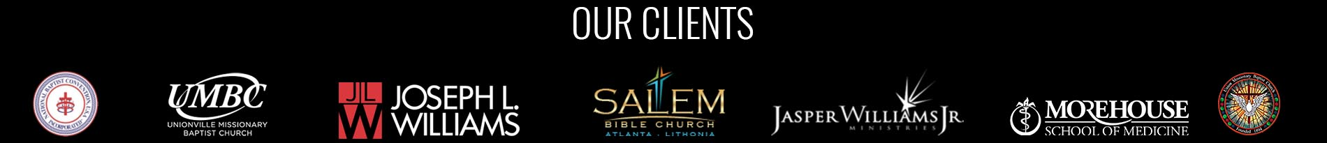 Church Video Announcement Service Client Logos